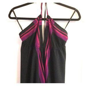 Halter high low maxi dress